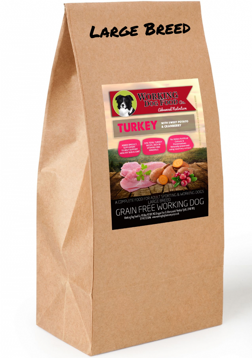 Grain Free Large Breed Working Dog Food Co. Turkey With Sweet Potato & Cranberry